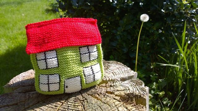 pletený domeček