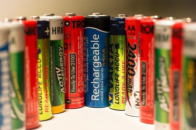 ukázka baterií