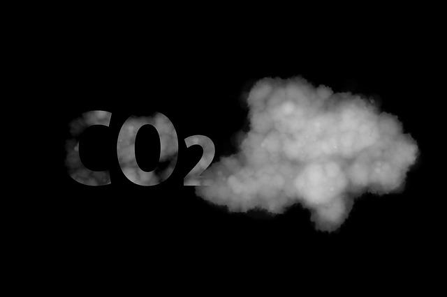 znázornění oxidu uhličitého